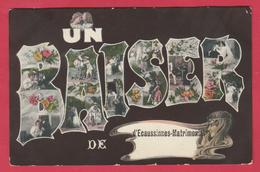 Ecaussinnes-Matrimonial - Un Baise D'... - Jolie Carte Fantaisie - 1908 ( Voir Verso ) - Ecaussinnes
