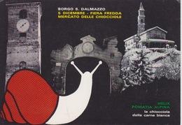 130- BORGO SAN DALMAZZO (CUNEO) - MERCATO DELLE CHIOCCIOLE - DICEMBRE 1976 - Cuneo