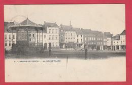 Braine-le-Comte - La Grand'Place ... Kiosque - 1907 ( Voir Verso ) - Braine-le-Comte