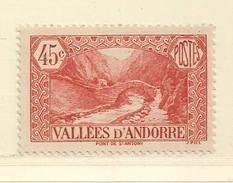 ANDORRE   ( D17 - 10109 )   1932  N° YVERT ET TELLIER  N° 34  N* - Andorre Français