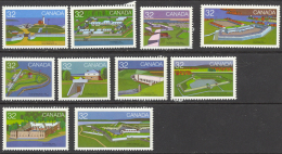 Canada Sc# 983-992 MNH Set/10 1983 32c Canadian Forts - 1 - 1952-.... Reign Of Elizabeth II