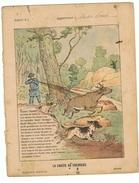 Couverture De Cahier 19° Siècle - Illustration La Chasse Au Chevreuil (protège Cahier) - Animaux