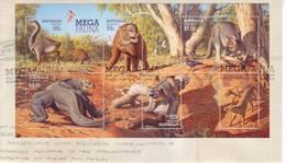 Australia 2008 - FDC Fauna Gigante Scomparsa, BF - Primo Giorno D'emissione (FDC)