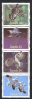 Canada Sc# 1098a MNH Strip/4 1986 34c Birds - 1952-.... Reign Of Elizabeth II