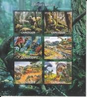 Cameroon  2016  Dinosaurs  6v  MNH  Imperf   Prehistoric Animals Souvenir Sheet  No. 2  #  75872