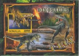 Somalia  2016  Dinosaurs  MNH  Imperf   Prehistoric Animals  Miniature Sheet    #  75887