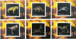 Benin  2015  Dinosaurs  6  MNH  Imperf   Prehistoric Animals  Miniature Sheets    #  75888