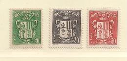 ANDORRE   ( D17 - 10121 )   1937  N° YVERT ET TELLIER  N° 53/55  N* - Andorre Français