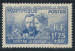 Martinique - 1938 - P Et M Curie - N° 167 - Neuf * - MLH - Martinica (1886-1947)