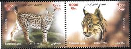 Mint Stamps Fauna Cats Lynx  2016  From Iran