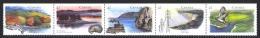 Canada Sc# 1412a MNH Strip/5 Horizontal 1992 42c Heritage Rivers - 1952-.... Reign Of Elizabeth II