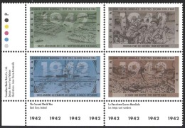 Canada Sc# 1451a MNH PB LL 1992 42c Second World War 1942 - 1952-.... Reign Of Elizabeth II