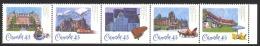 Canada Sc# 1471a MNH Strip/5 1993 43c CPR Hotels - 1952-.... Reign Of Elizabeth II