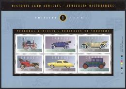 Canada Sc# 1490 MNH Souvenir Sheet 1993 43c-86c Historic Land Vehicles - 1952-.... Reign Of Elizabeth II