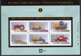 Canada Sc# 1552 MNH Souvenir Sheet 1995 43c-88c Historic Land Vehicles - 1952-.... Reign Of Elizabeth II