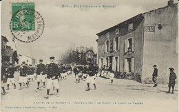 """1913  Ménil Flin  - Lunéville - Lundi De Pâques  """" Arrivée De La  Sté Jeanne D'Arc De Nancy  """" ( Vers Jandelaincourt ) - Luneville"""