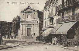 91,Essonne, ORSAY, Route De Versailles,Personnages,Scan Recto-Verso - Orsay