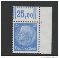 Mi.Nr.471 / Hindenburg 1932, 25 Pfg. Eckrand Oben Rechts  **