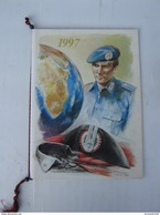 CALENDARIO STORICO ARMA CARABINIERI - ANNO 1997 (COMPLETO CORDONCINO E PALLINE) - LEGGI - Calendari
