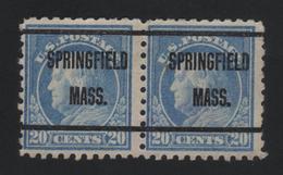 USA 888 SCOTT 476--MICHEL 237 K PAAR  SPRINGFIELD MASS. - Estados Unidos