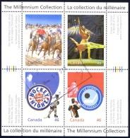 Canada Sc# 1819 Used Souvenir Sheet 1999 46c Canadian Entertainment
