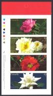 Canada Sc# 1914a MNH Booklet Pane/4 2001 47c Roses - 1952-.... Reign Of Elizabeth II