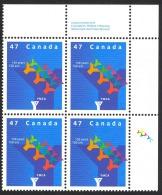 Canada Sc# 1925 MNH PB UR 2001 47c YMCA In Canada - 1952-.... Reign Of Elizabeth II