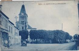 SAINT-NOM-LA-BRETECHE - Place - Eglise - Commerce - Vieille Voiture - St. Nom La Breteche