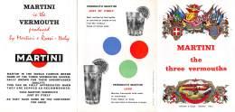 """06667 """"MARTINI THE THREE VERMOUTHS  - MARTINI & ROSSI - TORINO - ITALY """" PUBBLICITA' ORIGINALE - Altre Collezioni"""