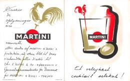 """06669 """"MARTINI & ROSSI - RICETTARIO PER COCKTAILS  """" PUBBLICITA' ORIGINALE - Altre Collezioni"""