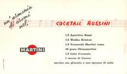 """06670 """"MARTINI & ROSSI - RICETTA PER COCKTAIL ROSSINI """" PUBBLICITA' ORIGINALE - Altre Collezioni"""