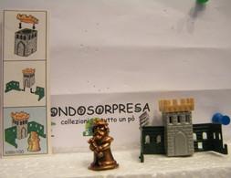 MONDOSORPRESA, KINDER FERRERO (SC35)  SOLDATINI DI METALLO CASTELLANI  K98 N°100 + CARTINA - Figurine In Metallo