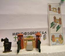 MONDOSORPRESA, KINDER FERRERO (SC35)  SOLDATINI DI METALLO CASTELLANI  K98 N°99 + CARTINA - Figurine In Metallo