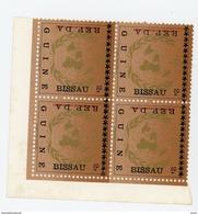 Guinée Bisssau1975-Météorologie-Timbre Surchargé En Bloc De 4***MNH