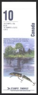 Canada Sc# BK145b Booklet MNH (top Fold) 1992 42c Heritage Rivers - Full Booklets