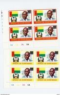 Guinée Bissau-1975-Anniversaire D´Amilcar Cabral-MI 382/83- Surchargés***MNH- EN BLOC DE 4
