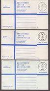 Great Britain - Isle Of Man - 3 Size G Unused Registered Covers - Man (Ile De)