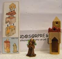 MONDOSORPRESA, KINDER FERRERO (SC35)  SOLDATINI DI METALLO CASTELLANI  K98 N°104 + CARTINA - Figurines En Métal