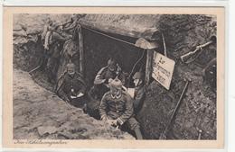Carte Allemande-Militaires Allemands Tranchées Poste StationTéléphonique (guerre14-18) TBE - Oorlog 1914-18