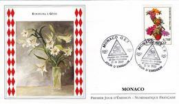 FDC Enveloppe Premier Jour  MONACO 2001 EUROFLORA à GENES Art FLORAL