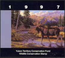 Canada Sc# YW2a Brent Todd, Artist (SIGNED) Mint In Folder 1997 Yukon Territory Conservation - 1952-.... Reign Of Elizabeth II