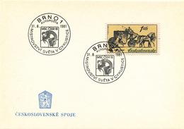 K9080 - Czechoslovakia (1981) Brno 1 Autoposta (Buss Post Office): World Cycling Championship (logo: MSC CSSR 81)