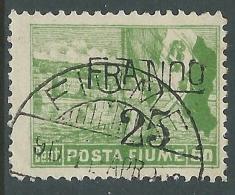 1919 FIUME USATO POSTA FIUME FRANCO 25 SU 50 CENT - P58-6 - Occupation 1ère Guerre Mondiale