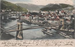 AK Tetschen Bodenbach Decin Podmokly Brücke Kettenbrücke Hafen Obergrund Priper Dampfer Quaderberg Böhmische Schweiz - Sudeten