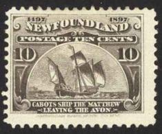 Canada Newfoundland Sc# 68 MH 1897 10c Cabot's Ship Matthew - Newfoundland