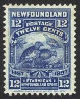 Canada Newfoundland Sc# 69 Used 1897 12c Willow Ptarmigan - Newfoundland