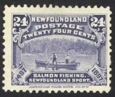 Canada Newfoundland Sc# 71 Used 1897 24c Salmon Fishing - Newfoundland