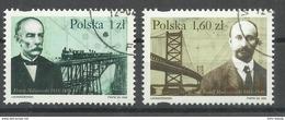 """Polen 3746-47, """"Satz Mit Abbildung Von 2 Brücken Und 2 Poln. Ingenieuren"""", Gestempelt Mi.:1,80 €"""