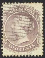 Canada Nova Scotia Sc# 9 Used 1860 2c Queen Victoria - Nova Scotia