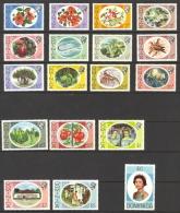 Dominica Sc# 454-471 MNH 1975 Hibiscus, Queen Elizabeth II - Dominica (1978-...)